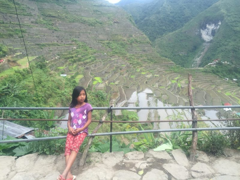 girl in Batad rice terraces